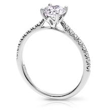 adeline round Dimaond SHoulder Engagement ring