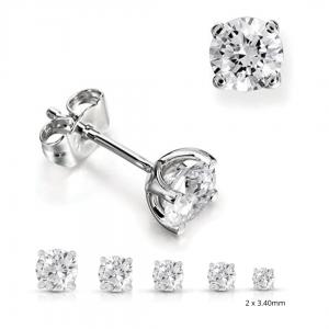 0.30 total diamond studs
