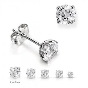 0.80 total diamond studs