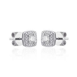 Diamond Microset white gold earring diamond centre