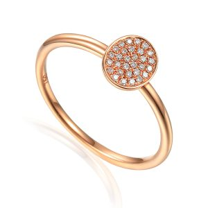 Image of Rose Gold Diamond Cluster Ring