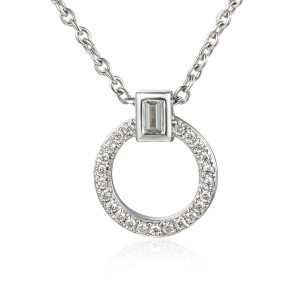 image of White Gold Hoop Pendant