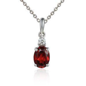 Image of Diamond Ruby Pendant