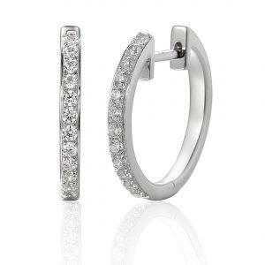 Pave Set Diamond Earrings