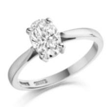 Lab Grown Oval diamond solitaire platinum