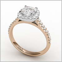 Cateline red gold engagement ring