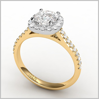 Cateline yellow gold engagement ring