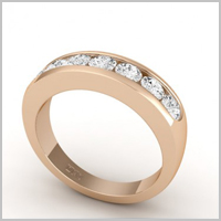 chloe round eternity ring red gold