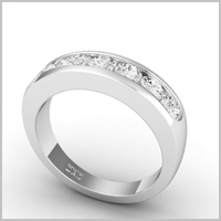 chloe round eternity ring white gold