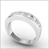 chloe round eternity ring white gold