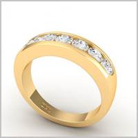 chloe round eternity ring yellow gold