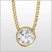 Lucia Round Yellow Gold