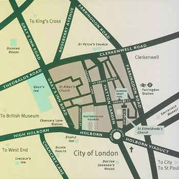 Hatton garden map